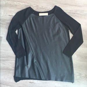 Zara Faux Leather Sweater